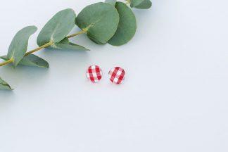 bijoux broucles d'oreilles en tissu delicat fracas